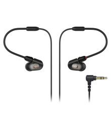 Audio Technica ATH-E50 In Ear Wired Earphones Without Mic Black