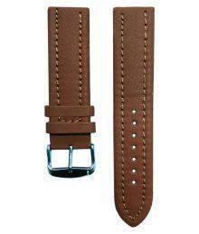 Flux Plain 22 Mm Leather Watch Strap