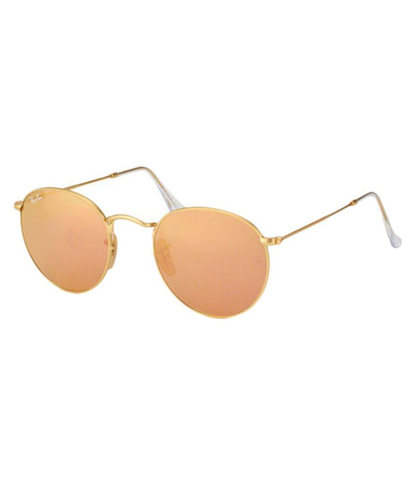 Ray-Ban Pink Round Sunglasses ( RB3447_001/Z2_50-21 )