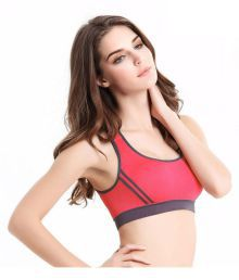 Gopalvilla Red Cotton Lycra T-Shirt/ Seamless Bra