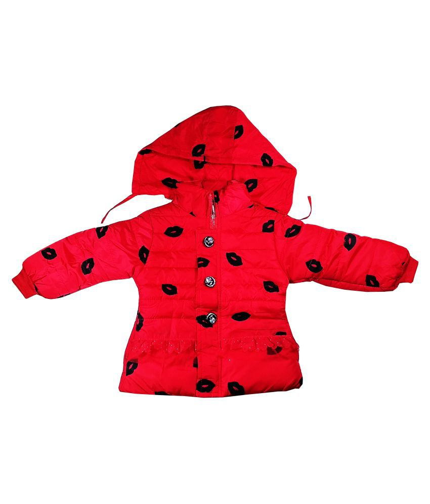 Fusion Fashion Red Quilted Girl's Jacket
