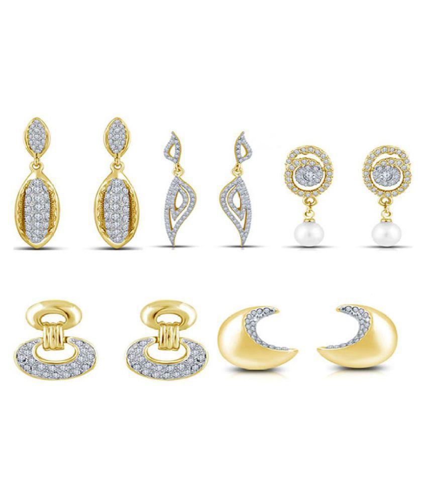 Shriya Golden Earrings - 5 Pair Pack