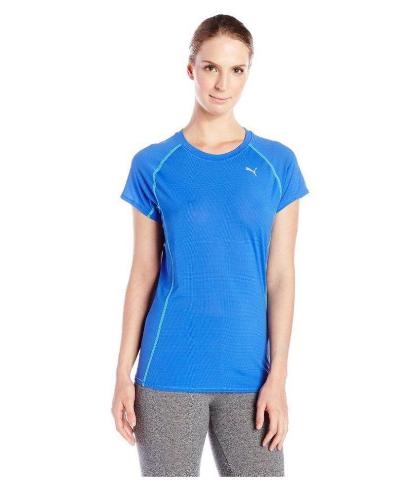 Puma Women's Blue PE Running S S tee