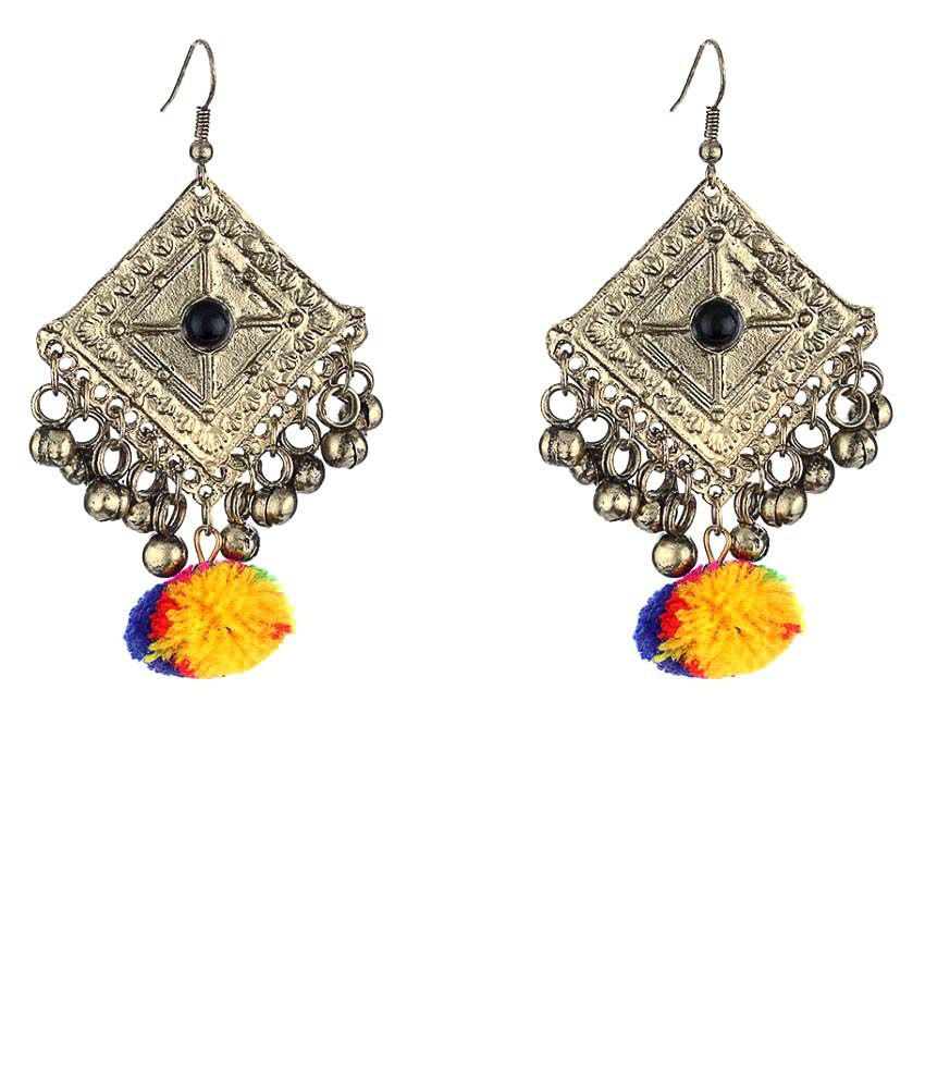 WM Silver Jhumki Earrings