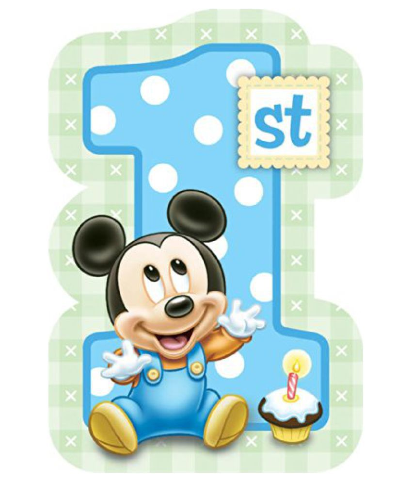 Baby Mickey Mouse 1st Birthday Invitations 8 Invites Disney Party Supplies
