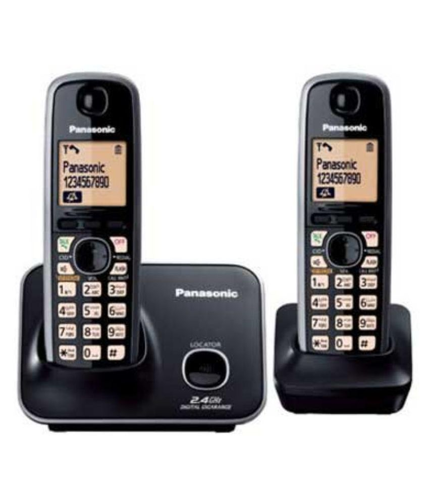 ad2c7a0d5 Buy Panasonic Kx-tg-3712sx Cordless Landline Phone ( Black ) Online at Best  Price in India - Snapdeal
