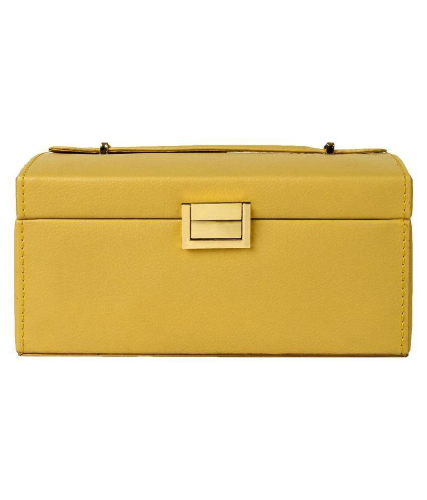 UberLyfe Yellow Jewellery Box