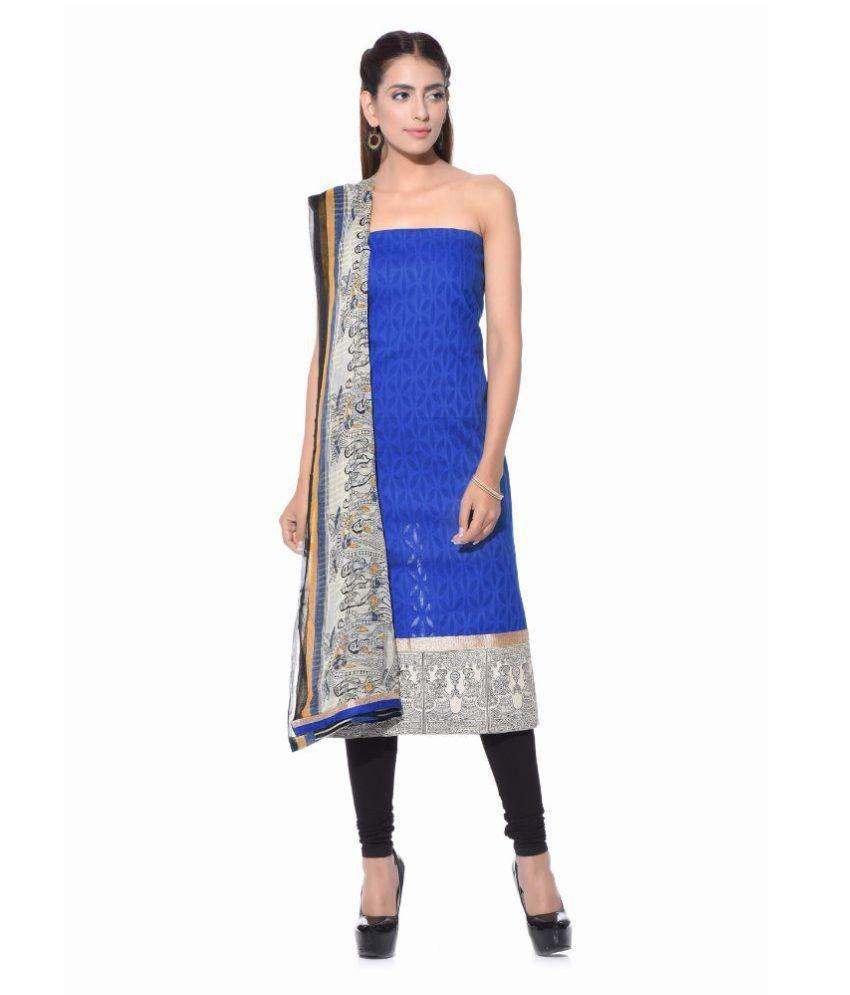 SD Fabrics Multicoloured Chiffon Dress Material