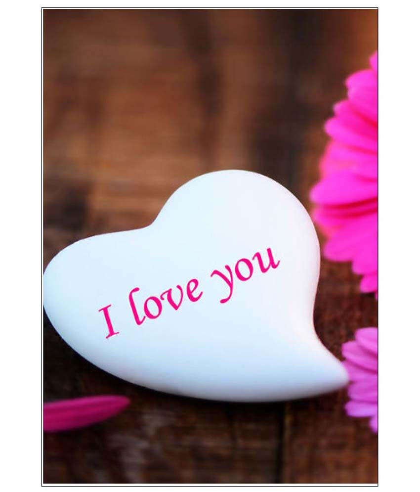 ulta anda l love you from heart a3 non tearable paper art prints