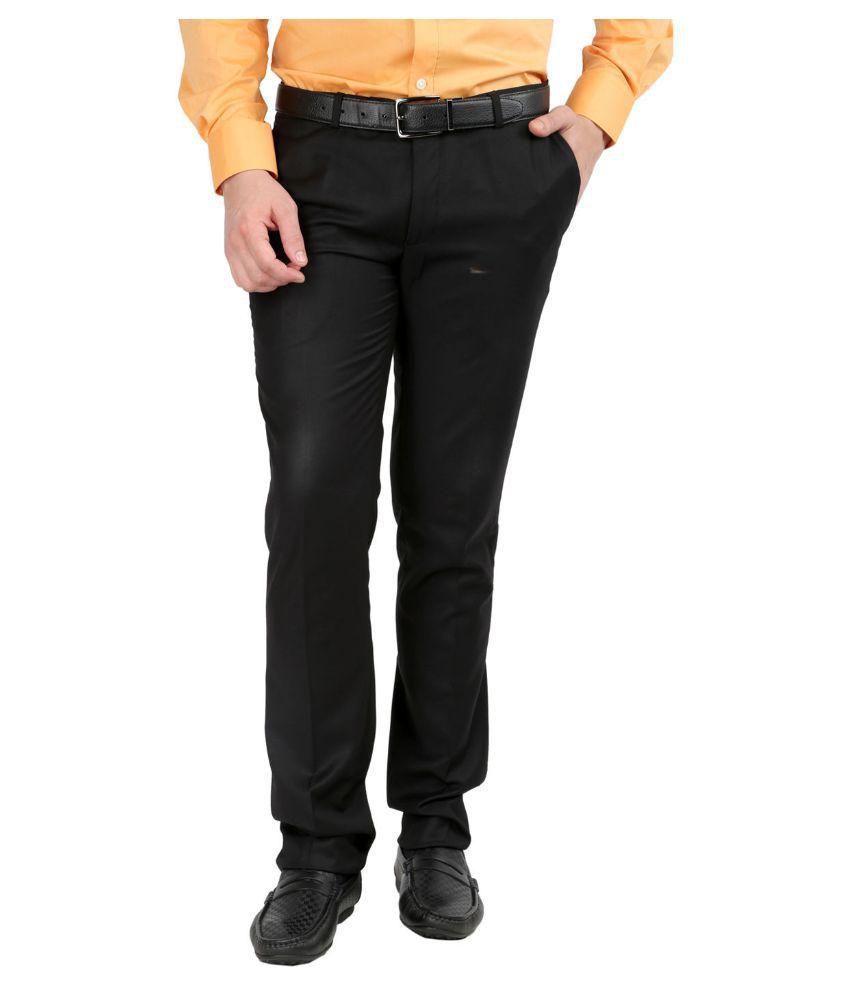 Inspire Clothing Inspiration Black Slim Flat Trouser