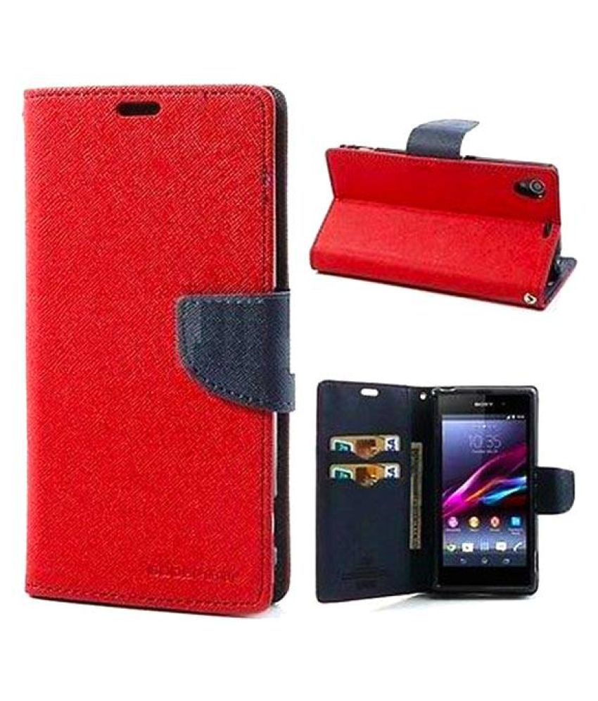 LYF Flame 2 Flip Cover by Kulasri Empire - Red