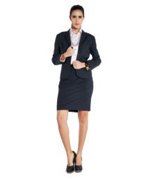 Park Avenue Woman Black Polyester Blend Blazers