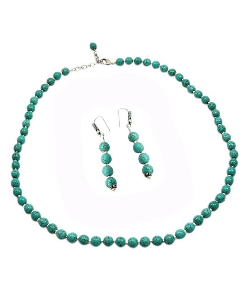 Silvesto India Turquoise Necklace Set
