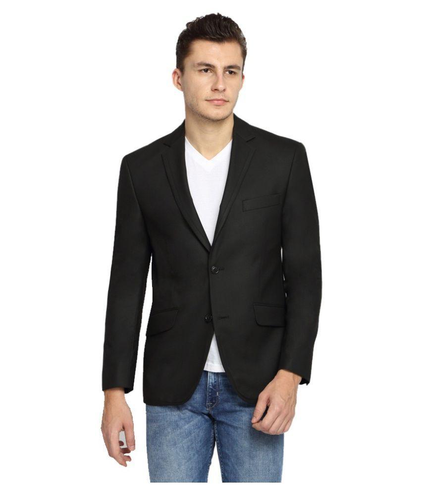 Vastra Innovation Black Solid Formal Blazers