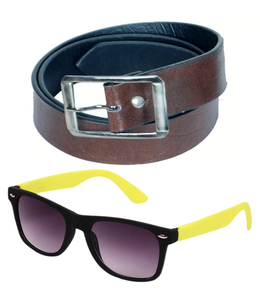 Kvell Be Proud Multi Faux Leather Formal Belts with Sunglasses