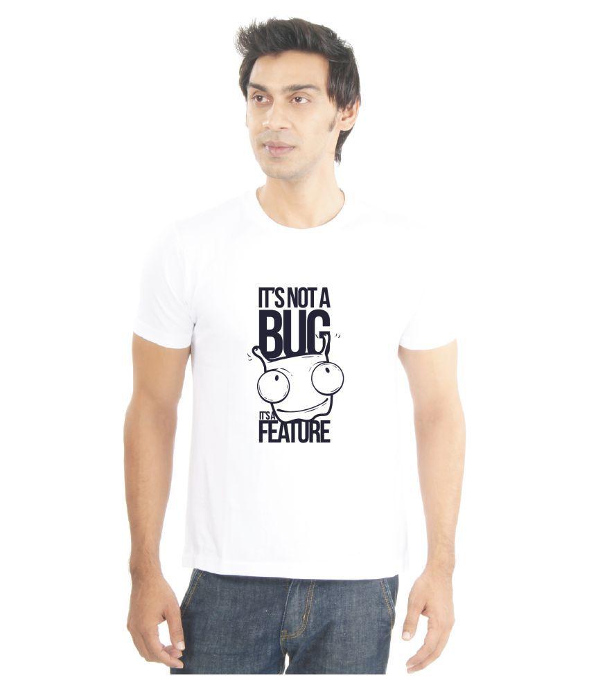 La Funny & Cool tshirts White Round T-Shirt