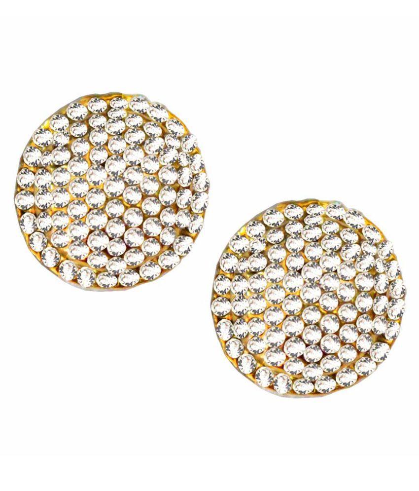 Pihu Golden Stud Earrings