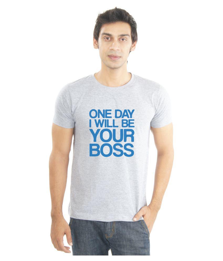 La Funny & Cool Tshirts Grey Round T-Shirt