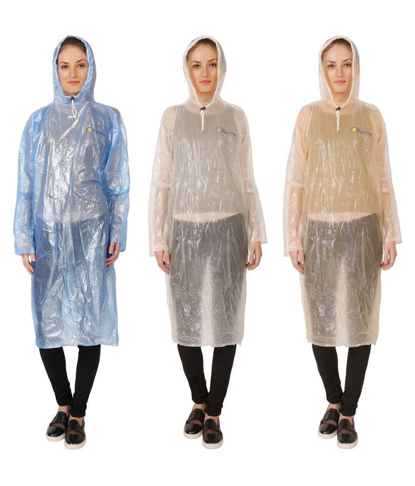 Zeel Multi Color Nylon Long Raincoat