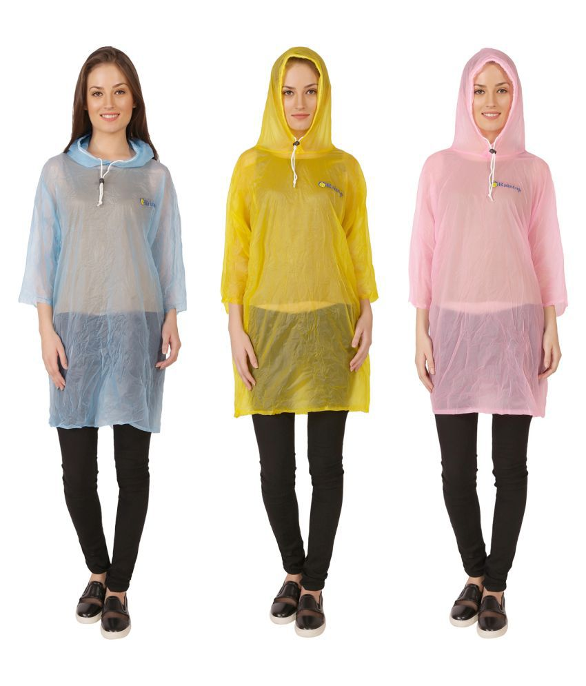 Zeel Multi Color Nylon Short Rainwear