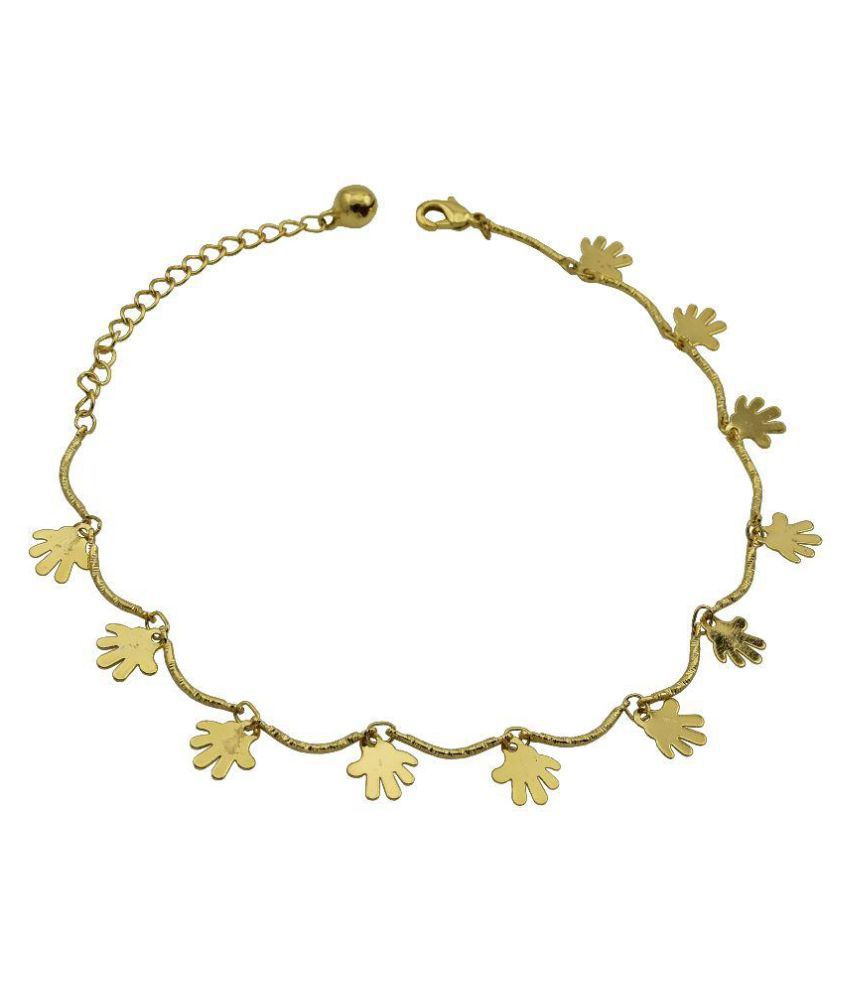 High Trendz Golden Anklet