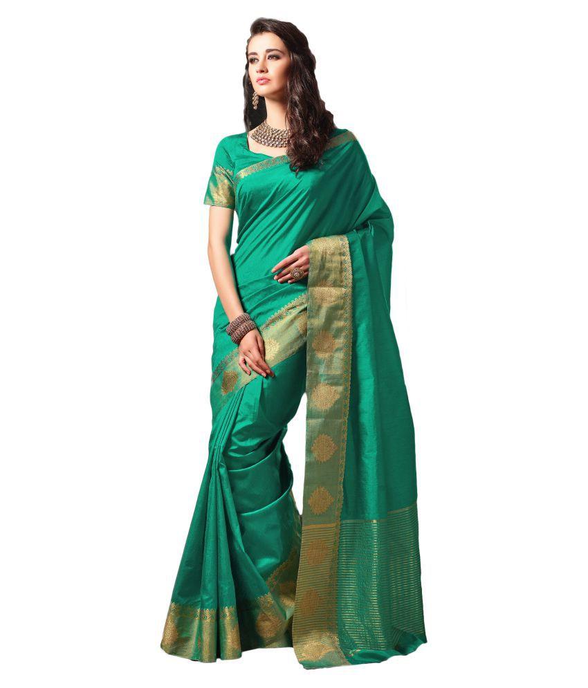 M.S.Retail Green Silk Saree