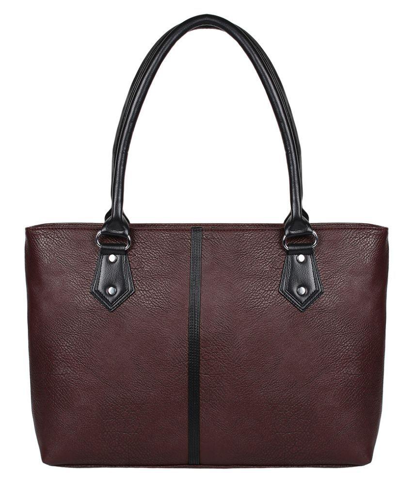 Fashmode Brown Faux Leather Shoulder Bag