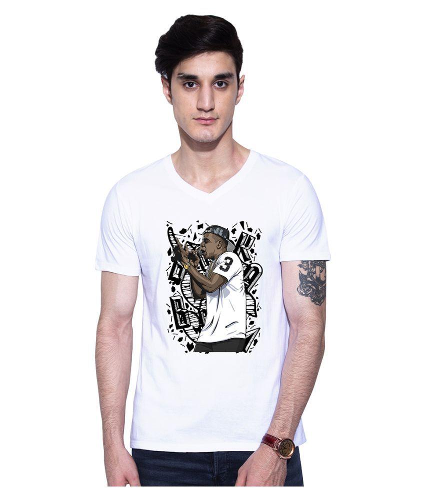 Uptown 18 White V-Neck T-Shirt