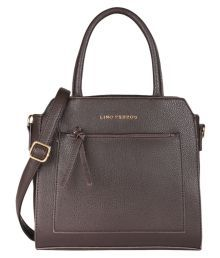 Lino Perros Gray Faux Leather Shoulder Bag
