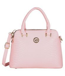 Lino Perros Pink Faux Leather Shoulder Bag