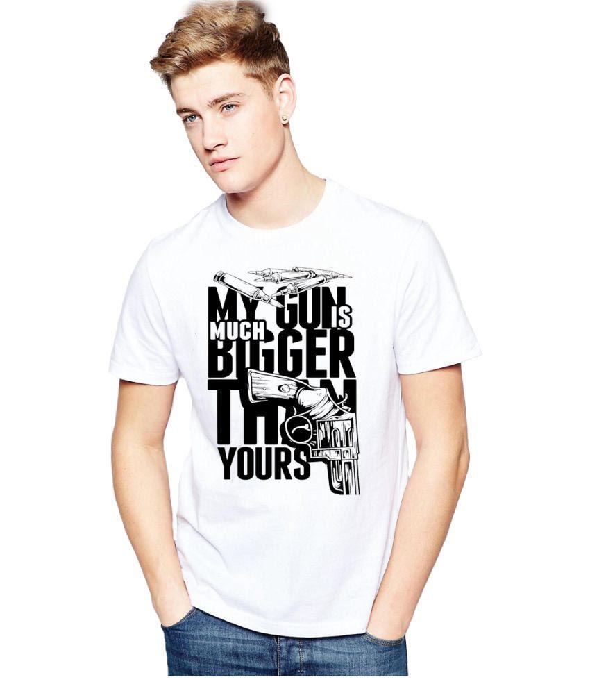 ALEN CARTER White Round T-Shirt