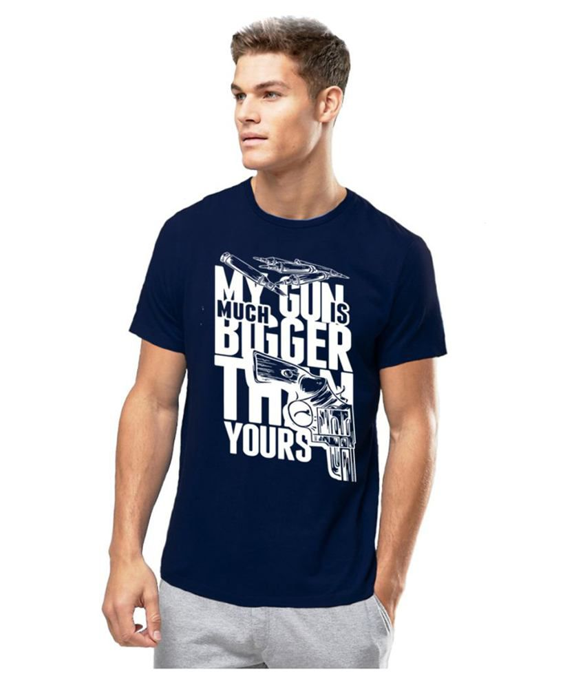 Alen Carter Blue Round T-Shirt