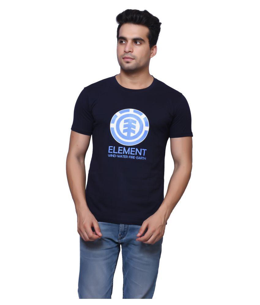 Oneliner Blue Round T-Shirt