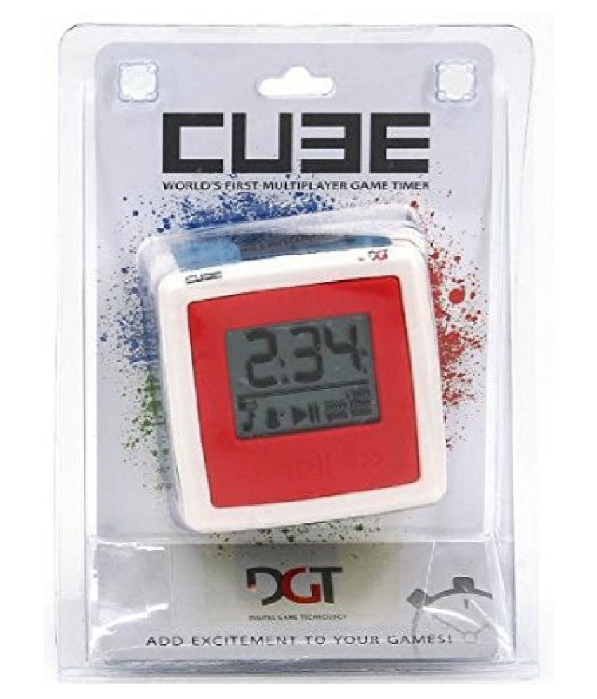 DGT Cube Game Timer and Chess Clock & Play Chess - Have Fun E-Book (2 item Bundle)