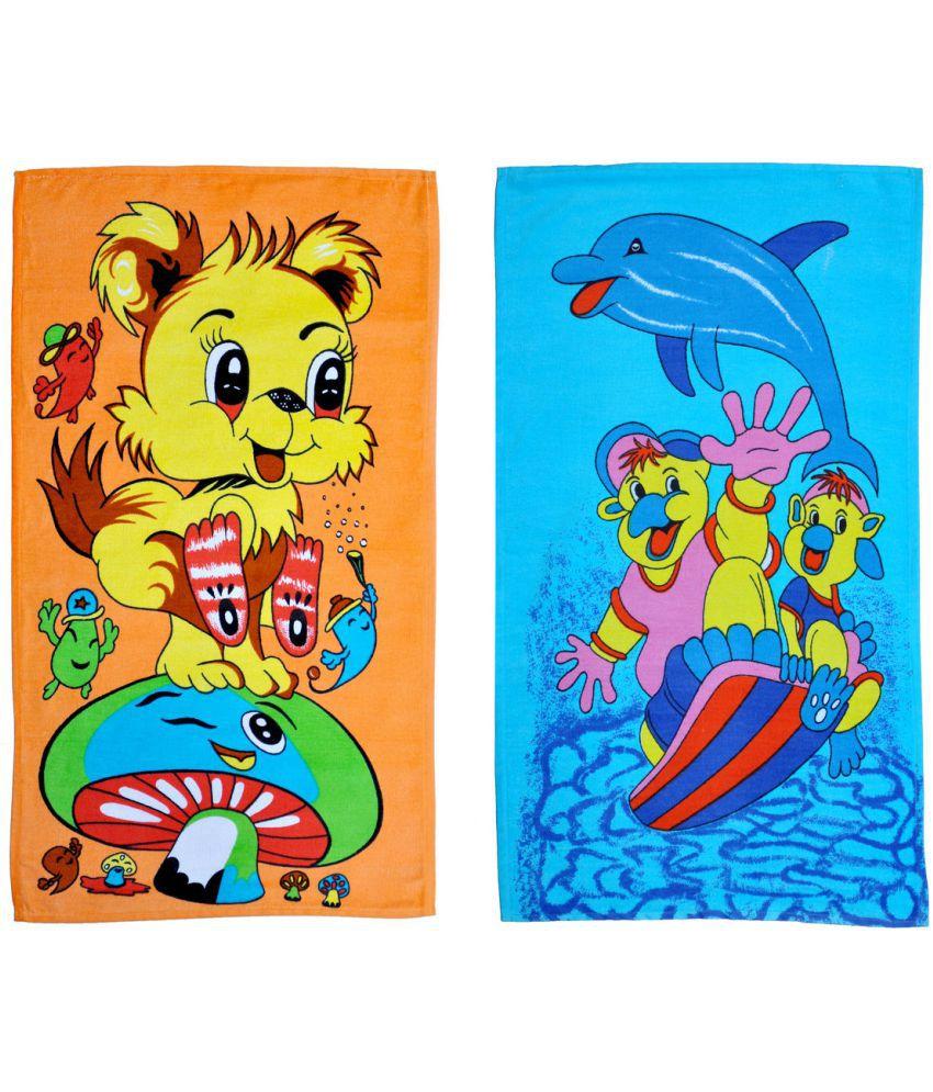 Mandhania Multi Cotton Bath Towels 2 Kids Bath Towels