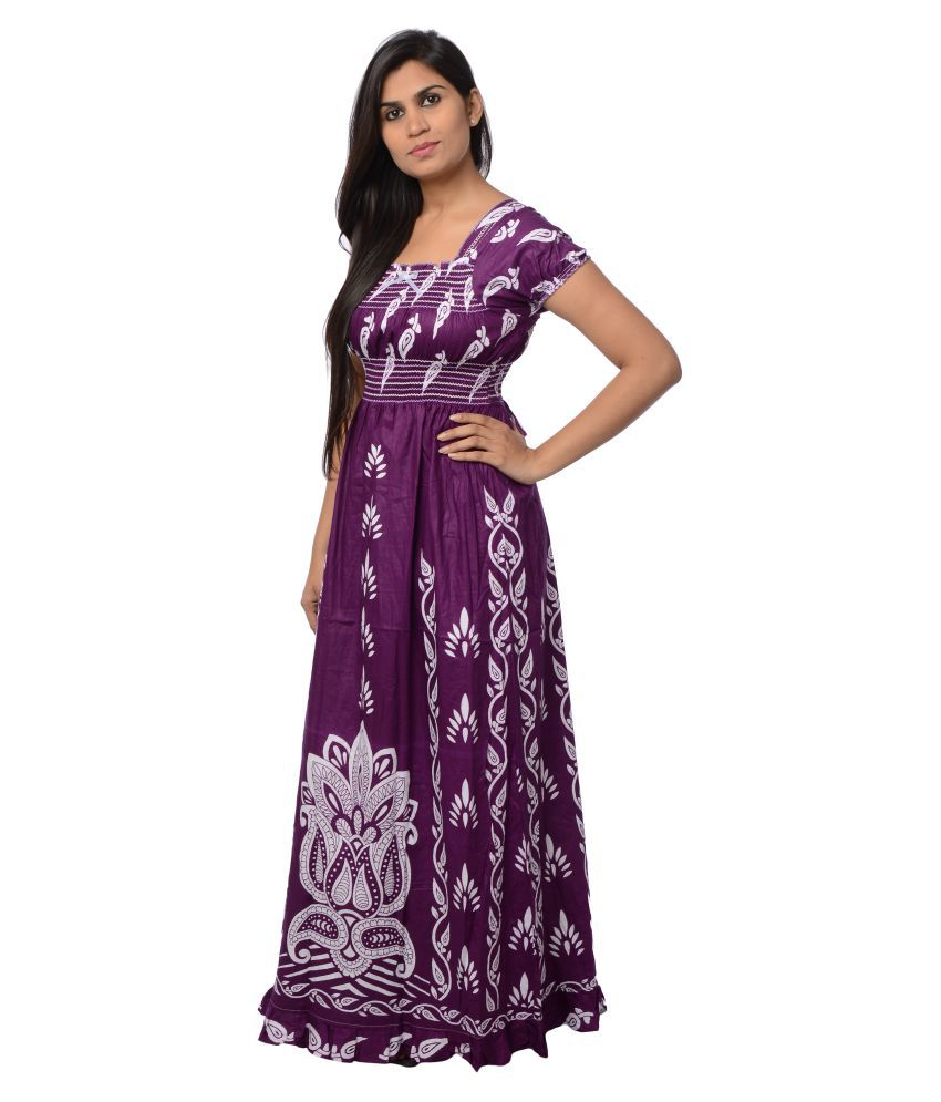 Buy Pretty Girl Purple Cotton Nighty   Night Gowns Online at Best Prices in  India - Snapdeal 7af5d16e9