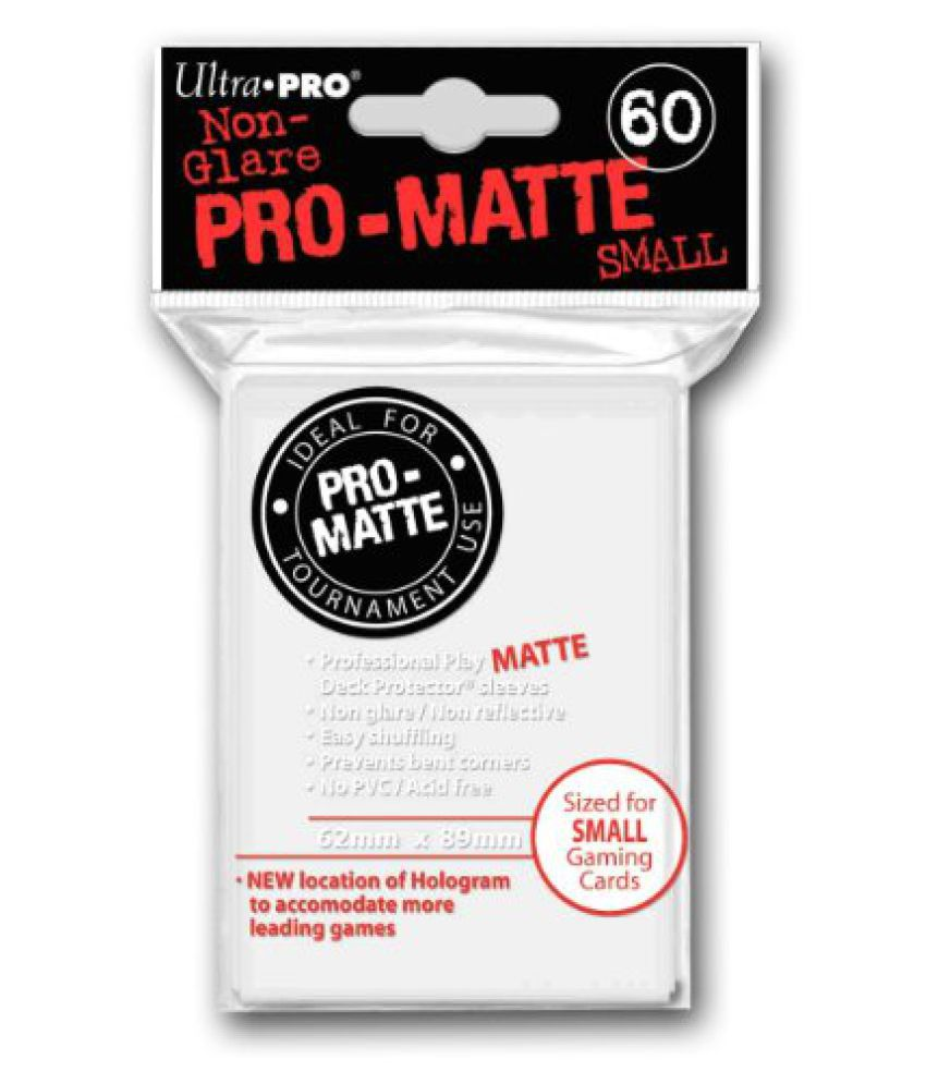 Ultra Pro 60 WHITE PRO-MATTE Small Size Deck Protector NEW Gaming Card Sleeves