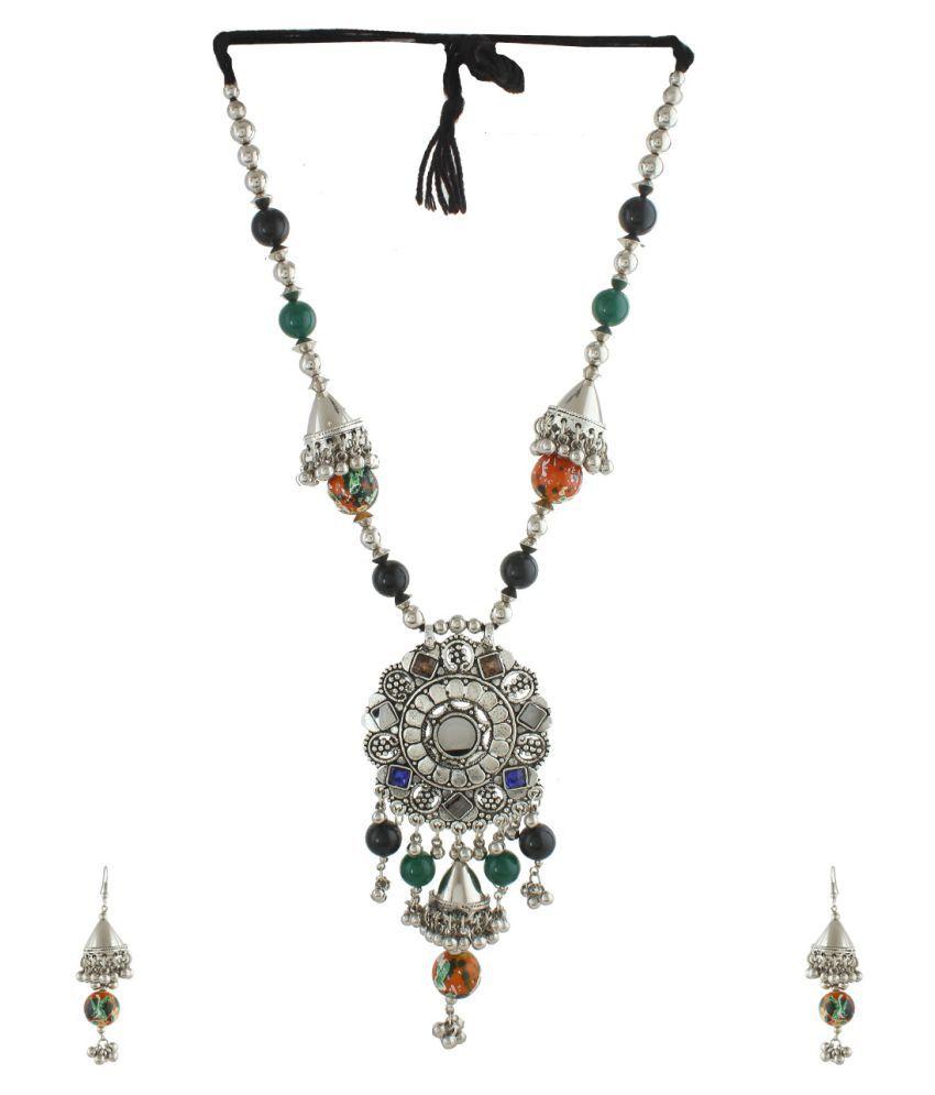 Anuradha Art Silver Alloy Necklaces Set