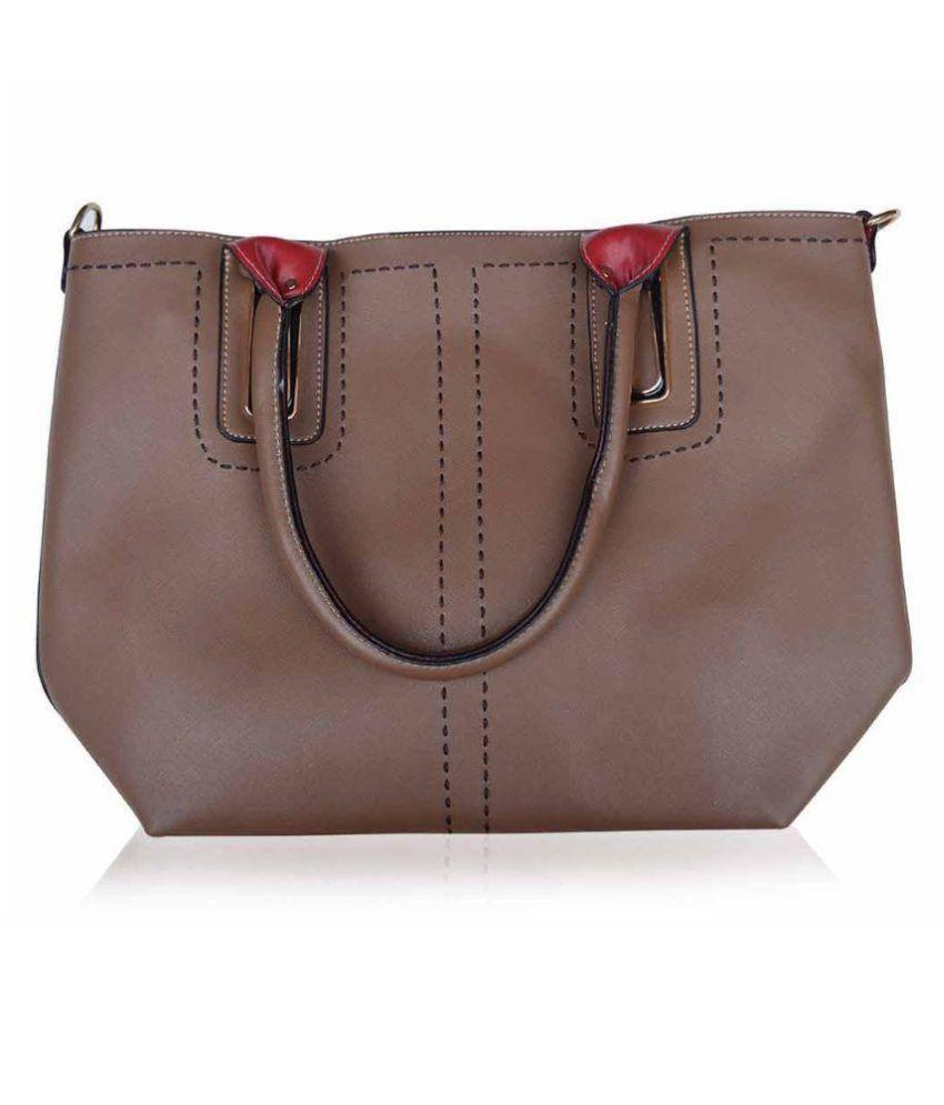 TORNADOES Brown Canvas Shoulder Bag