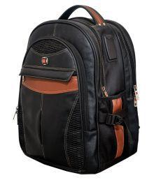 Vigne Black Solid Laptop Bags - 638421939824