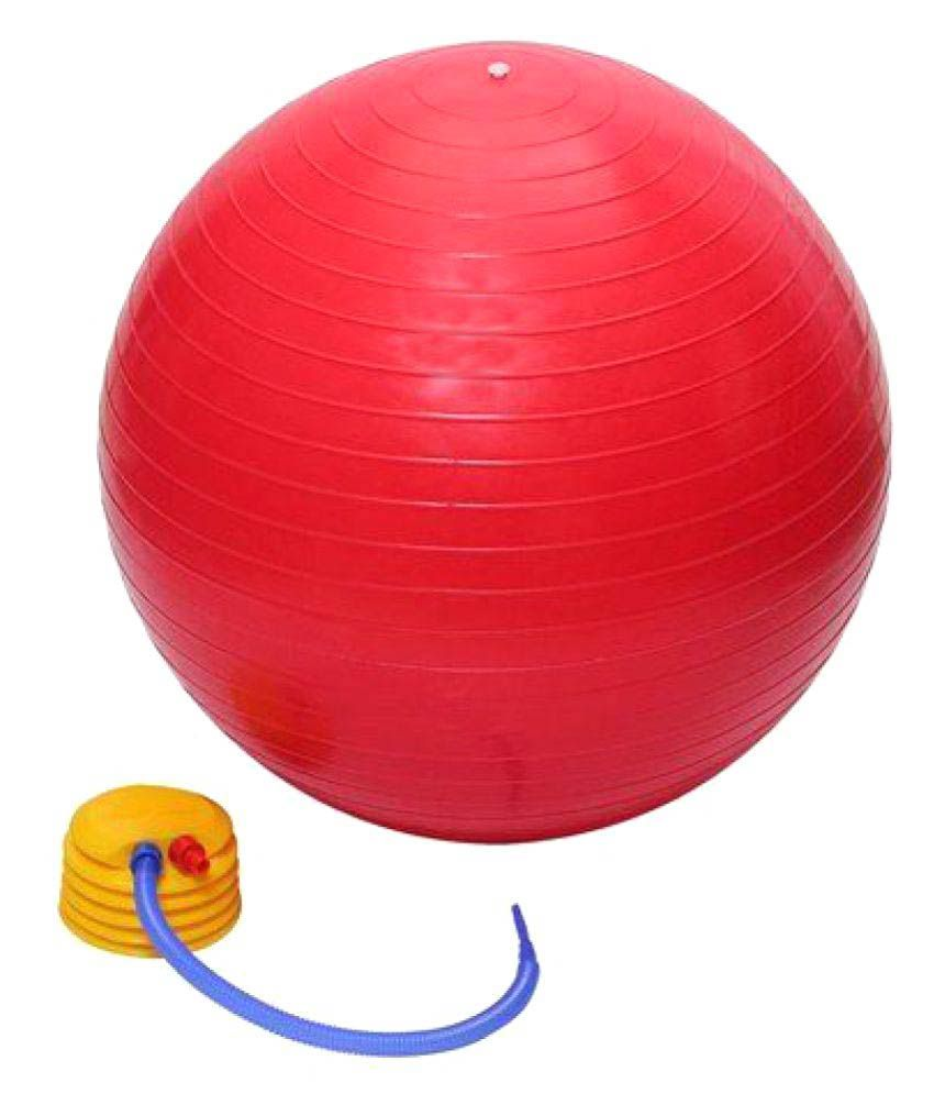 Anti Brust 65mm Fitness Gym Ball With Hand Pump ( Multicolor )