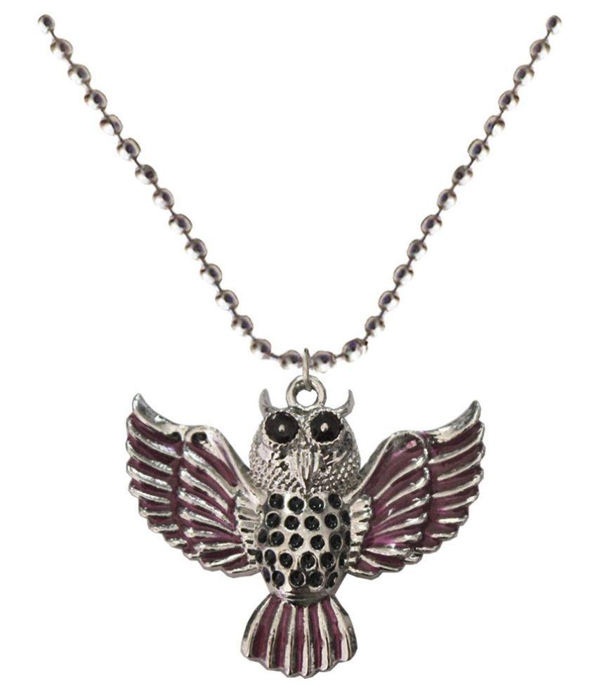 Mens Jewell Multicolor Owl Fashion  Pendant