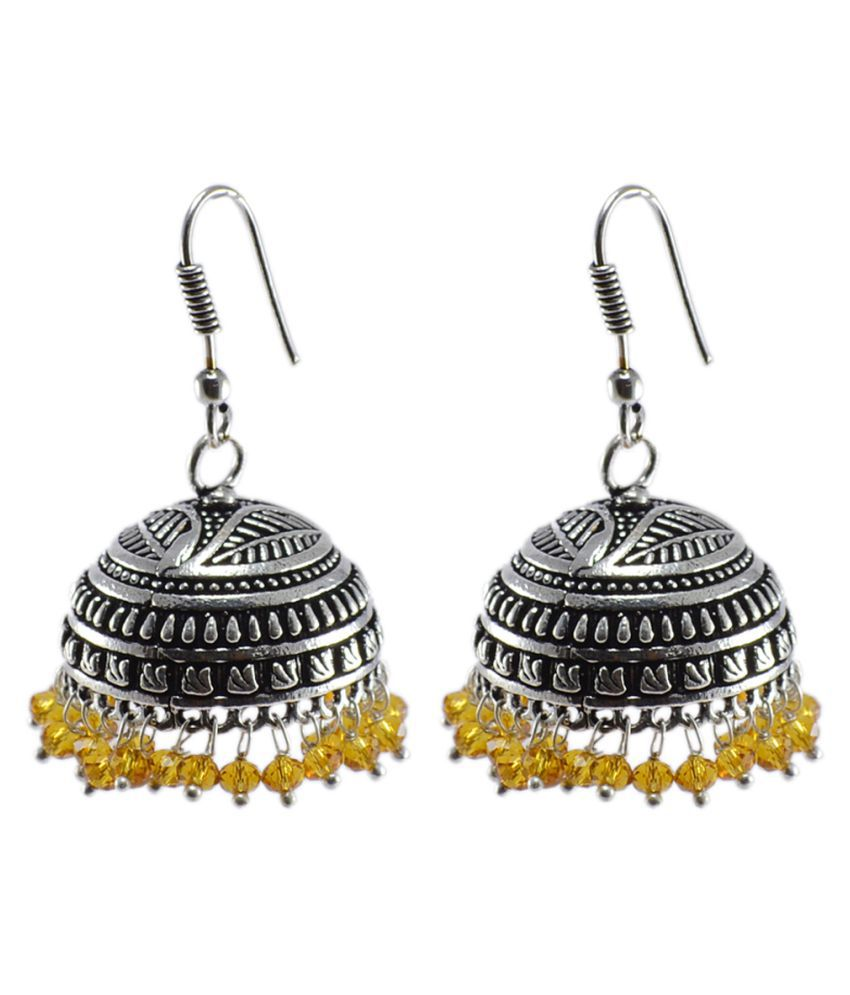 Silvesto India Silver Jhumki Earrings
