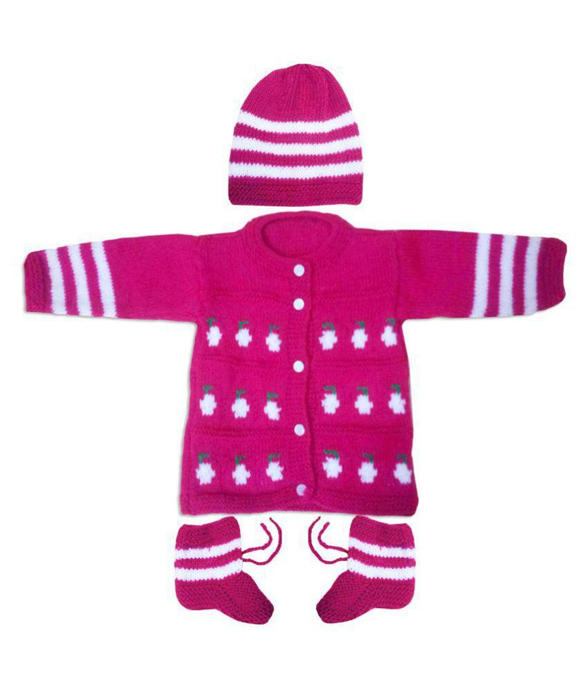 0c35d6559 Dadima Ki Bunai Hand Knitted Pink Infant-Sweaters - Buy Dadima Ki ...