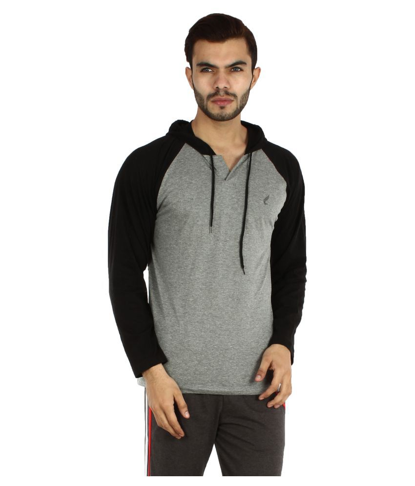 V3Squared Grey Hooded T-Shirt