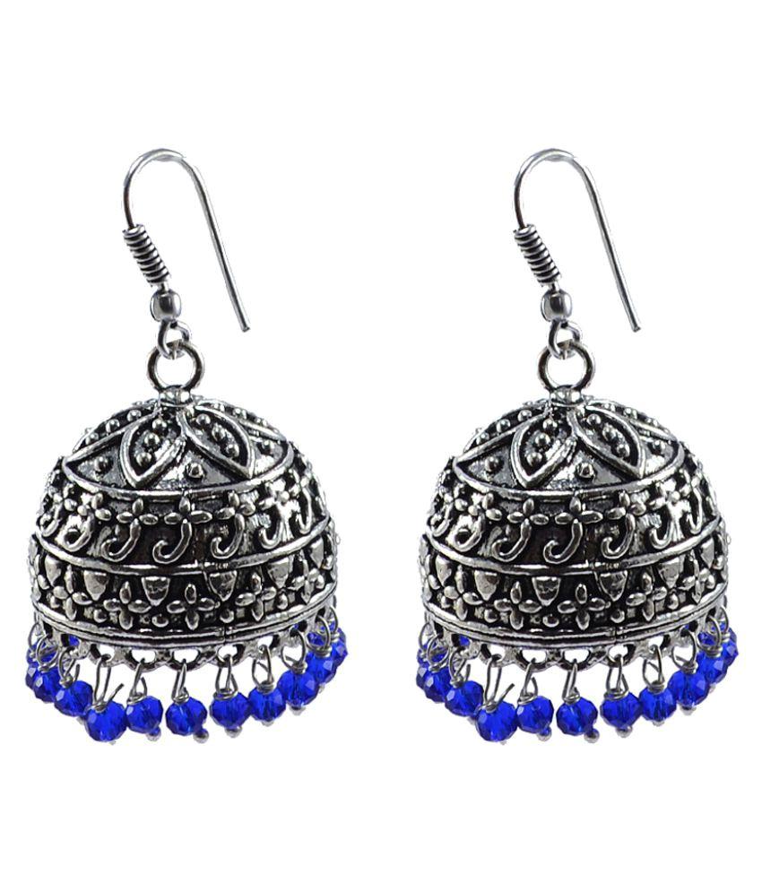 Silvesto India Silver Single Pair Jhumki Earrings