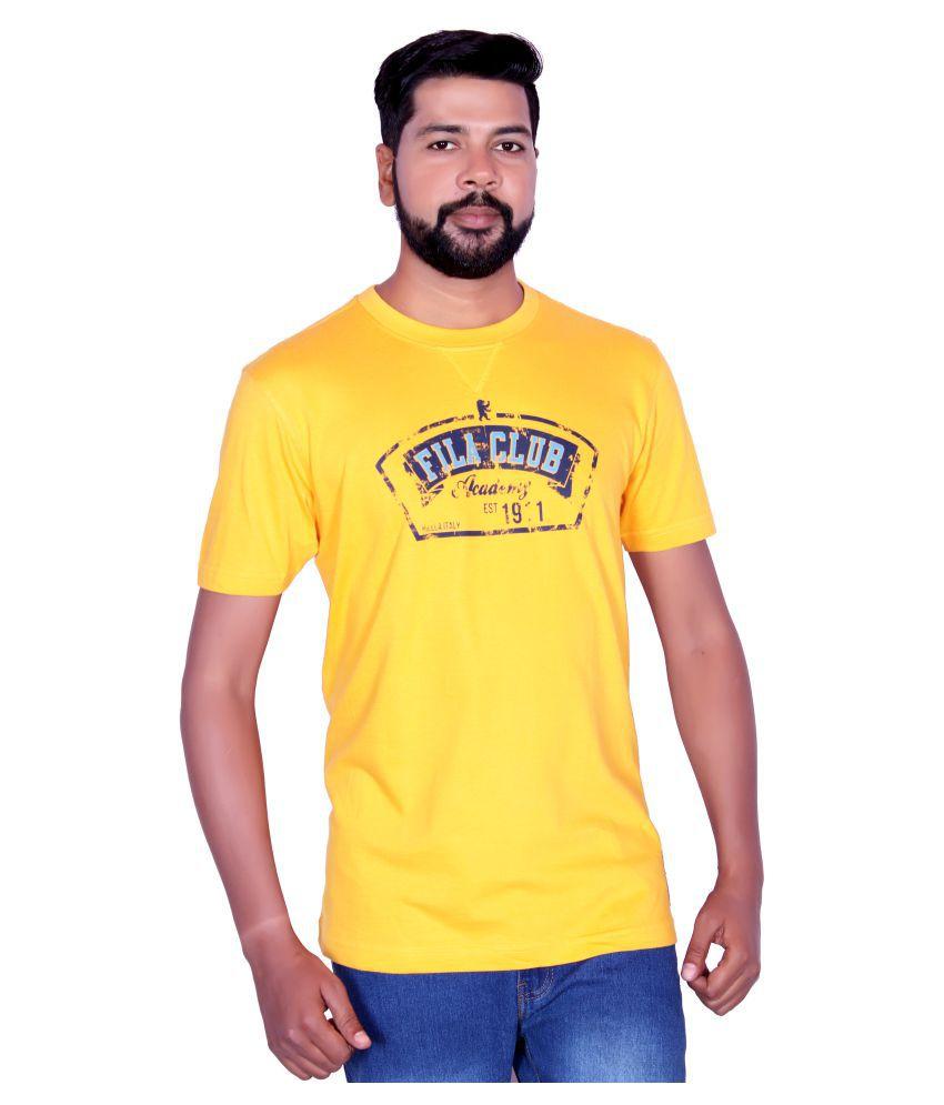Fila Yellow Round T-Shirt