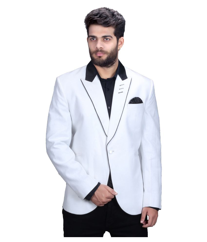Mark Estilo White Plain Party Blazers