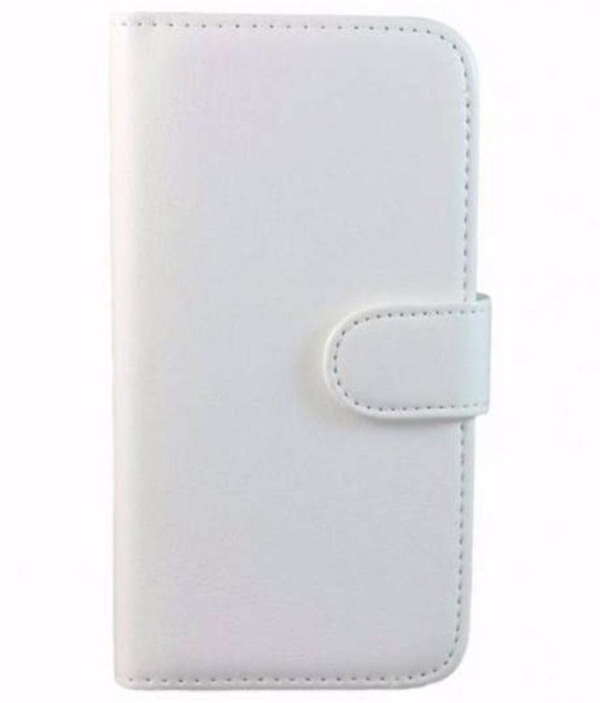 best service 72b46 ea70c Micromax Bolt A24 Flip Cover by STK - White