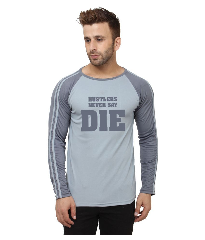 Hustle Grey Polyester T-Shirt Single Pack